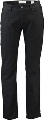 BRAX Baumwoll-Stretch-Hose Cadiz in Woll-Optik  anthrazit