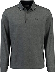 Herren Polo Shirt BRAX Polo-Shirt Pharell ultralight und easy care schwarz