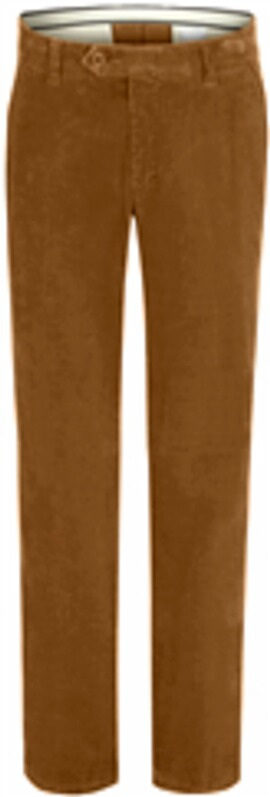 CLUB OF COMFORT Feincord-Stretchhose cognac