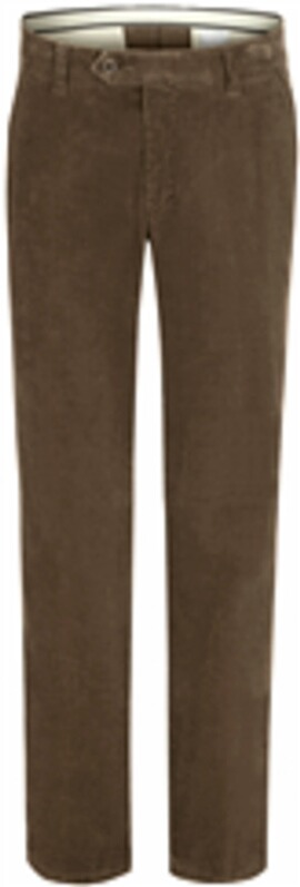 CLUB OF COMFORT Feincord-Stretchhose schlamm