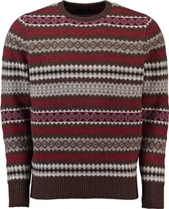 WILLIAM LOCKIE Lambswool Norweger Pullover gruen
