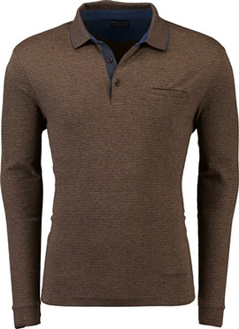PIERRE CARDIN Polo-Shirt gestreift beige
