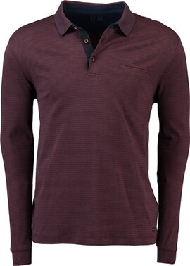 PIERRE CARDIN Polo-Shirt gestreift bordeaux