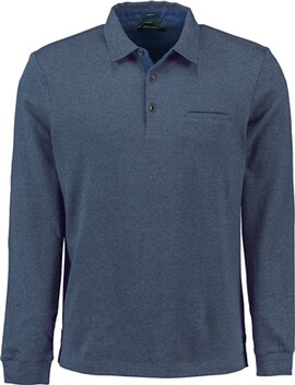 PIERRE CARDIN Polo-Shirt bicolor blau