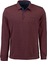 PIERRE CARDIN Polo-Shirt bicolor rot