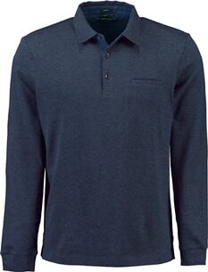 Herren Polo Shirt PIERRE CARDIN Polo-Shirt bicolor marine