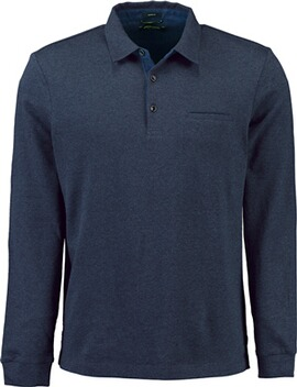 PIERRE CARDIN Polo-Shirt bicolor marine