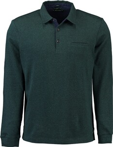 Herren Polo Shirt PIERRE CARDIN Polo-Shirt bicolor gruen