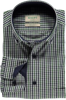 HAUPT Karo-Hemd Button Down Modern Fit gruen