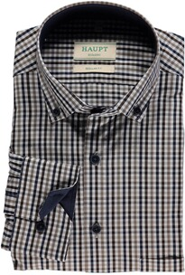 HAUPT Karo-Hemd Button Down Modern Fit braun