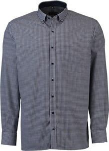 ETERNA Karo Hemd  Comfort Fit Button-Down dunkelblau