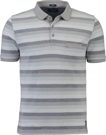 PIERRE CARDIN Polo-Shirt grau gestreift