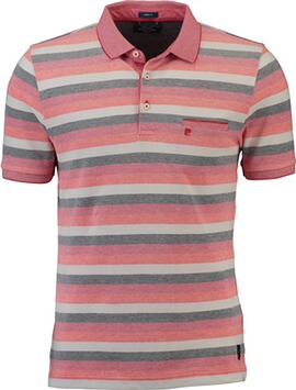 PIERRE CARDIN Polo-Shirt rot gestreift