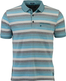 PIERRE CARDIN Polo-Shirt blau gestreift