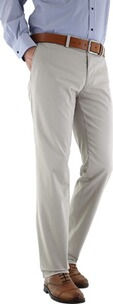 EUREX BY BRAX Baumwoll-Stretch-Hose Pio beige in Chino-Form