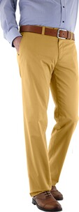 EUREX BY BRAX Baumwoll-Stretch-Hose gelb in Chino-Form