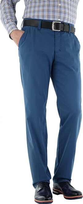 CLUB OF COMFORT Coolmax und High-Stretch Hose blau