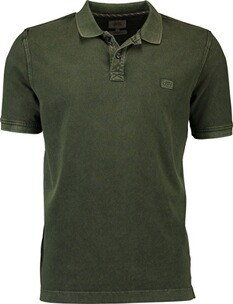 Herren Polo Shirt camel Polo-Shirt oliv