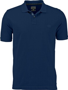 Herren Polo Shirt camel Polo-Shirt marine
