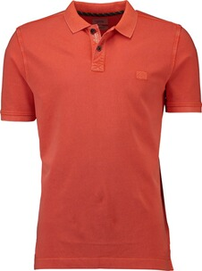 Herren Polo Shirt camel Polo-Shirt orange