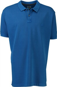 Herren Polo Shirt camel Polo-Shirt blau