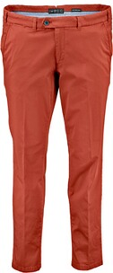 EUREX BY BRAX Baumwoll-Stretch-Hose rot in Chino-Form Tiefbund