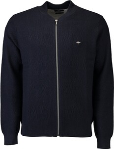 FYNCH HATTON Strickjacke marine mit Collegekragen