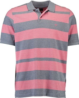 FYNCH HATTON Polo-Shirt rosa gestreift