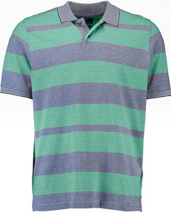 Herren Polo Shirt FYNCH HATTON Polo-Shirt grün gestreift