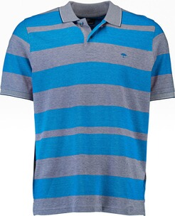 Herren Polo Shirt FYNCH HATTON Polo-Shirt blau gestreift