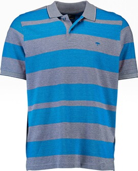 FYNCH HATTON Polo-Shirt blau gestreift