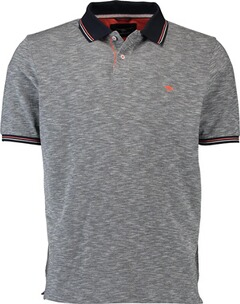 Herren Polo Shirt FYNCH HATTON Polo-Shirt marine und kontrastfarbigem Kragen