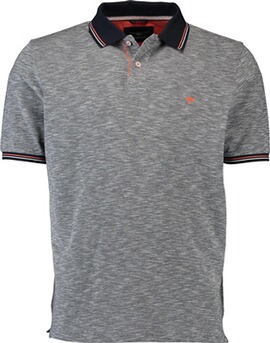 FYNCH HATTON Polo-Shirt marine und kontrastfarbigem Kragen