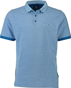 Herren Polo Shirt FYNCH HATTON Polo-Shirt hellblau Button-Down-Kragen