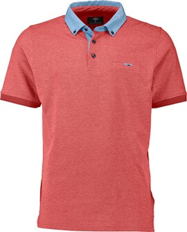 FYNCH HATTON Polo-Shirt rot Button-Down-Kragen