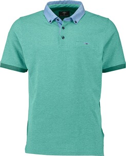 Herren Polo Shirt FYNCH HATTON Polo-Shirt grün Button-Down-Kragen