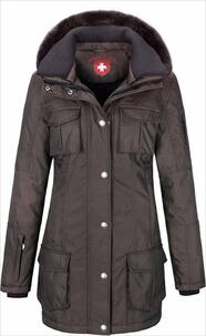 WELLENSTEYN Winter Long-Jacke Schneezauber  coffee