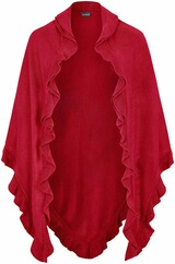 LUISE STEINER Poncho rot