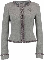 KRÜGER COLLECTION Trachten-Strickjacke grau