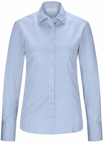ETERNA Stretch-Bluse hellblau