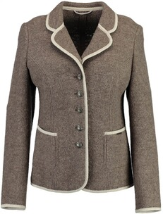 Damenjanker: h-moser Damen Walkblazer in Taupe