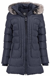 Wellensteyn Jacke Damen: WELLENSTEYN Astoria Long Steppjacke midnightblue