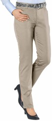 BRAX Carola Hose in Five-Pocket-Form beige