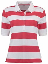 BRAX Polo-Shirt Cleo gestreift rot