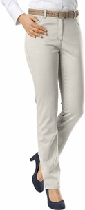 RAPHAELA BY BRAX Ina Baumwollsatin-Hose kitt Five Pocket Super Slim