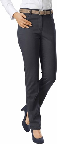 RAPHAELA BY BRAX Ina Baumwollsatin-Hose marine Five Pocket Super Slim