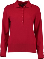 RABE Polo-Pullover rot