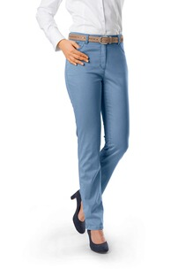 RAPHAELA BY BRAX Ina Baumwollsatin-Hose hellblau Five Pocket Super Slim