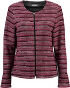 RABE Strickjacke in Web-Optik fuchsia