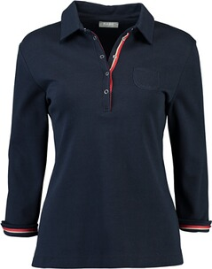 RABE 3/4-Arm-Polo-Shirt marine